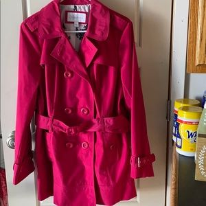 Pink Belted Trench Coat Large